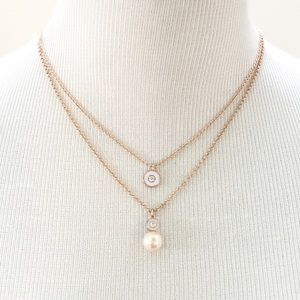 Kate Spade Pearly Delight Rose Gold Necklace